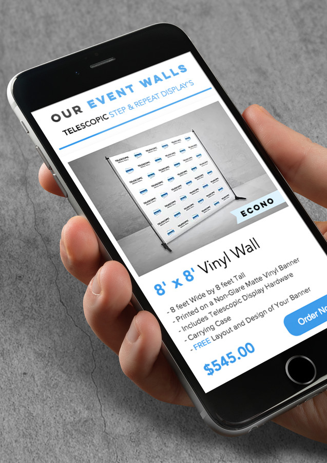 Mobile Website for EventWalls