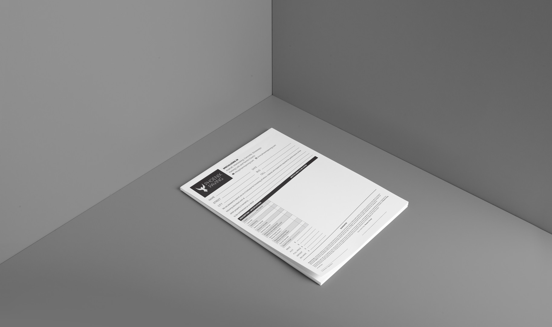 NCR Book for Phoenix Paving