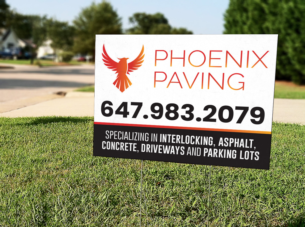 Lawn Signs for Phoenix Paving