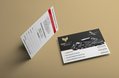 Business Cards for First Flight Limousine