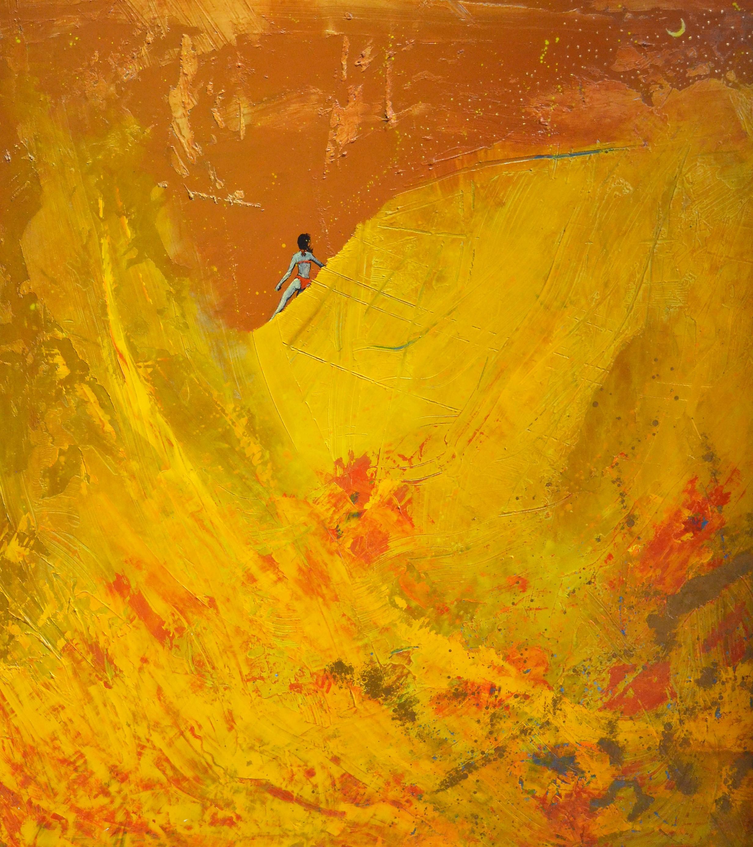 paisaje amarillo 110x122