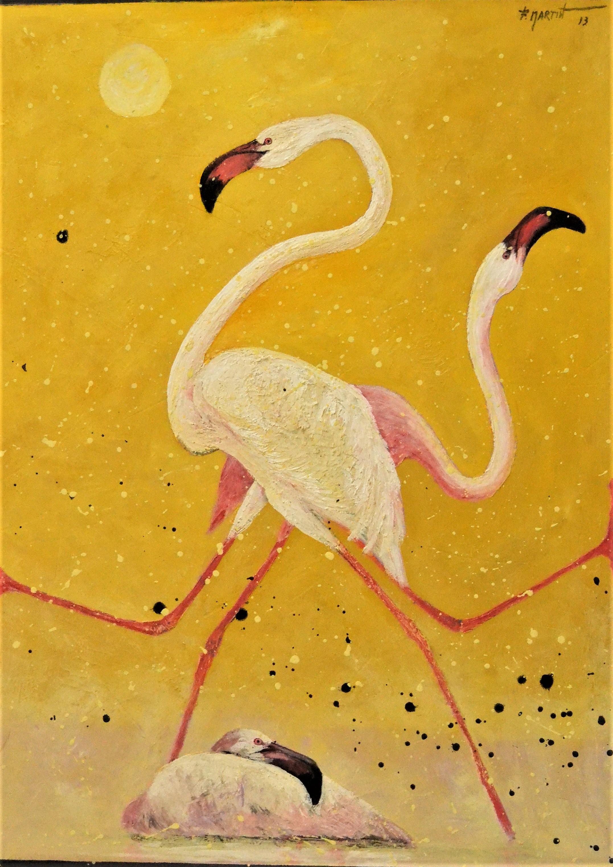 flamencos fondo amarillo 138x103