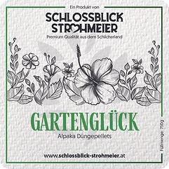 Etikett_9x9cm_Gartenglück_Strohmeier_Ze