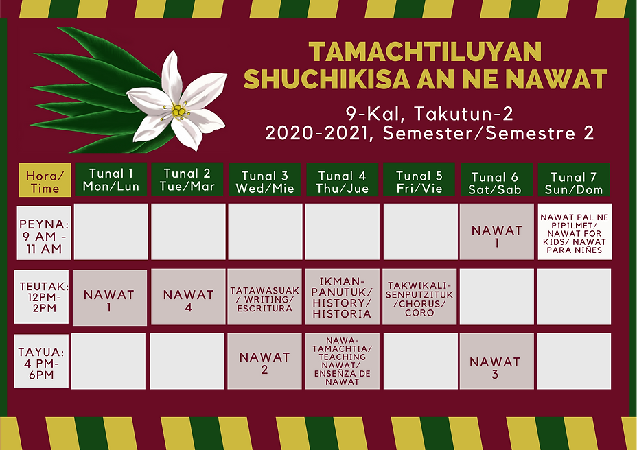 9 Kal Takutun 2 Schedule.png