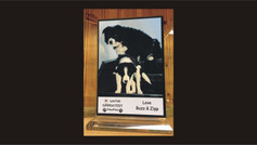 SUBLIMATED GLASS STAND UP PLAQUE