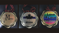 CUSTOMIZED MEDAL ORNAMENT