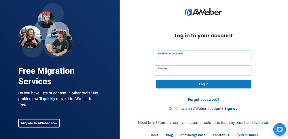 start email marketing with aweber