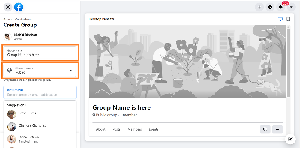 how to create a facebook group to get website traffic