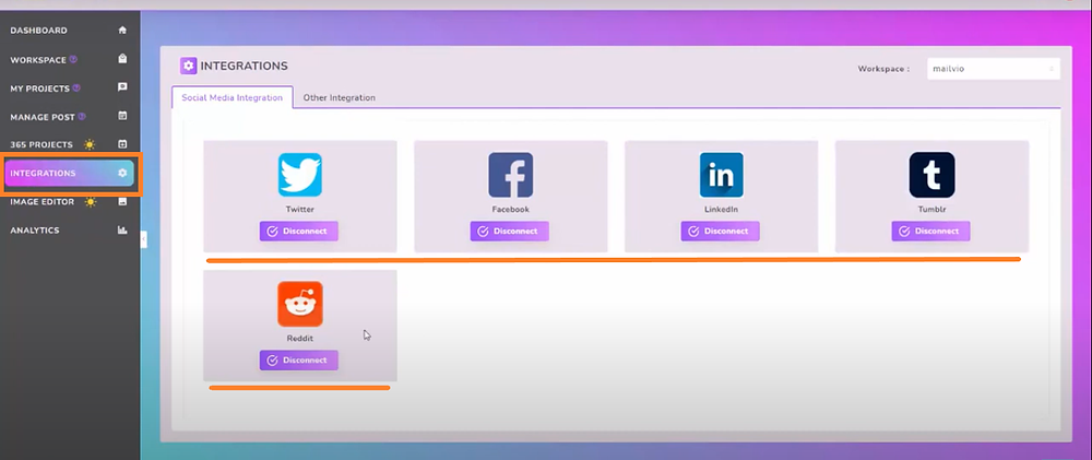 integrate social media accounts with go traffic