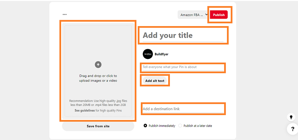 Create  a pin to sent quality website traffic instantly
