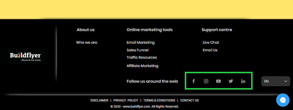 integrate social media networks on website