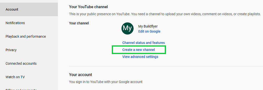 steps to create a youtube channel