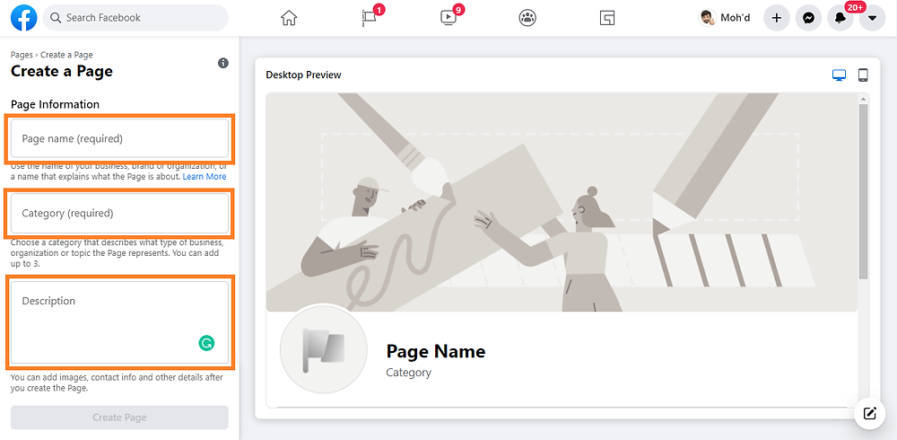 how to create a facebook page to get website traffic
