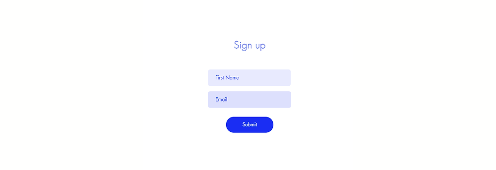 simple email marketing sign up form
