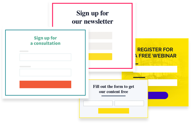 email marketing sign up for model