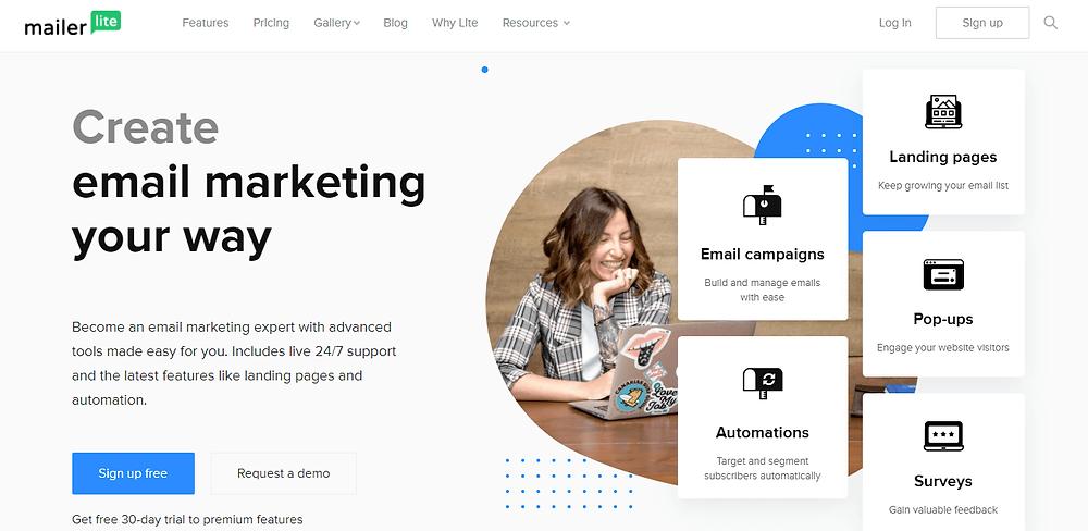 start email marketing with mailerlite