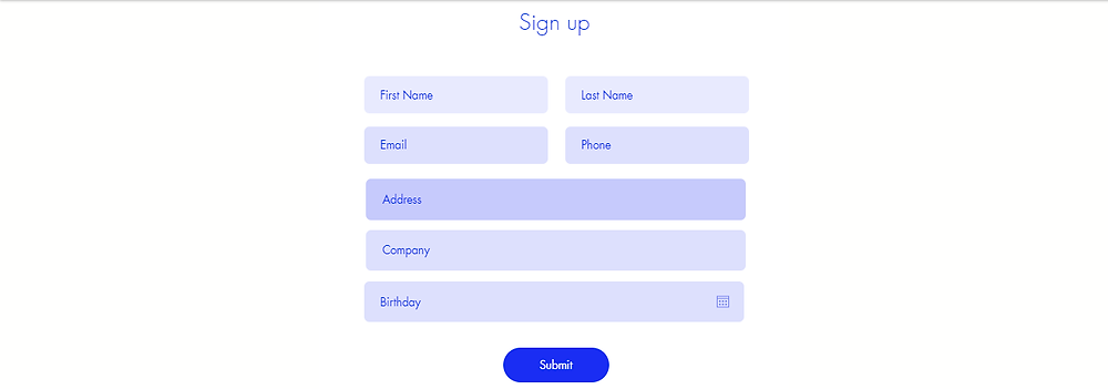 email marketing sign up form