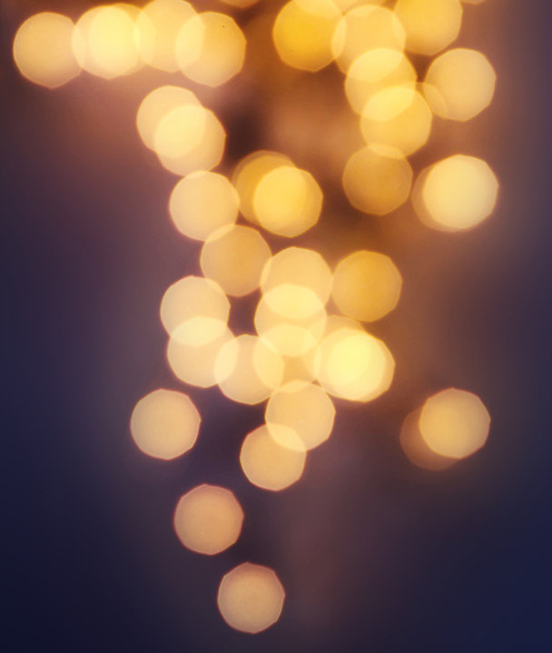 Lumières chaudes Blurry