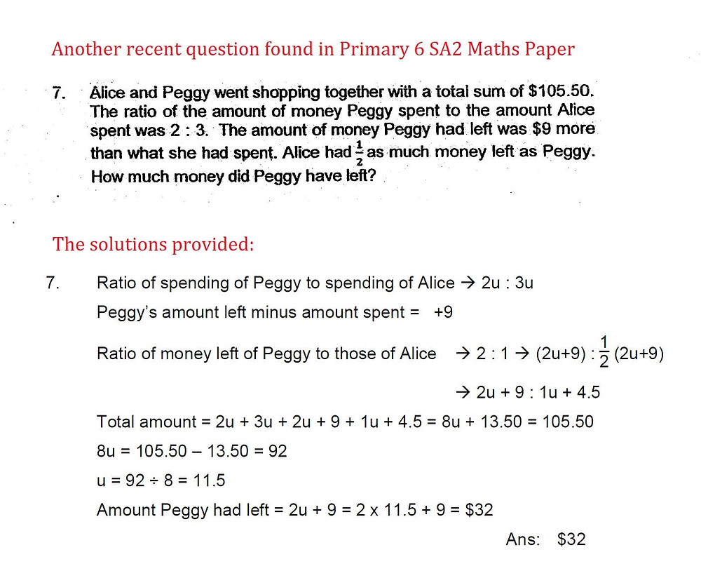 Singapore P6 Test Papers With Improper Working