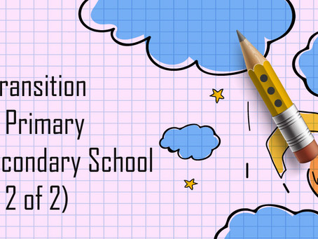 The Transition From Primary To Secondary School (Part 2)
