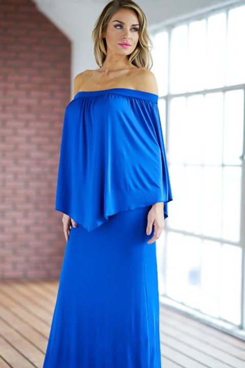 The Zoe Blue Maxi Dress