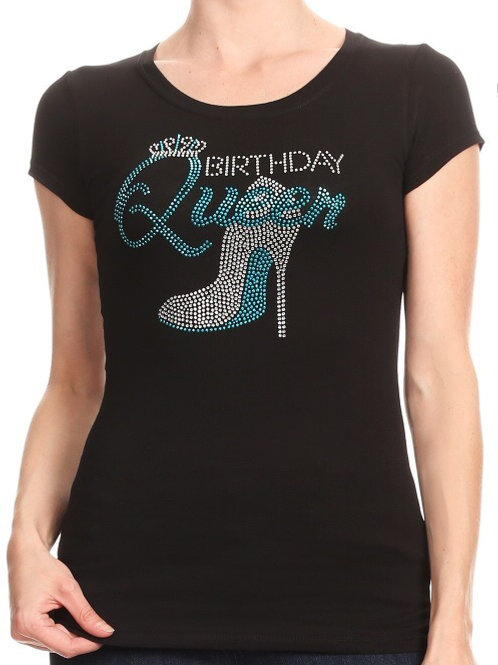The Birthday Queen Fitted Tee (Slim fit)