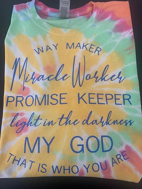 Waymaker Miracle Worker Tye Dye
