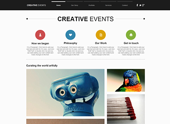 Creative Agency Website Template | WIX