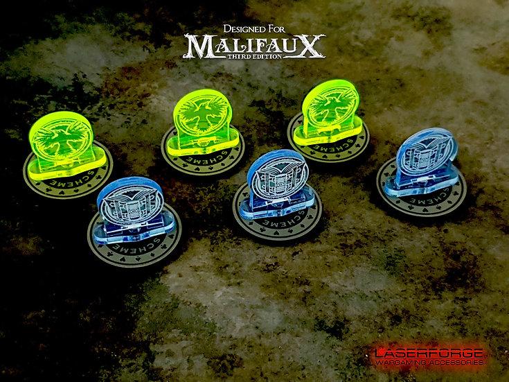 Scheme Markers - 30mm Magnetic (10) - Malifaux M3E Compatible