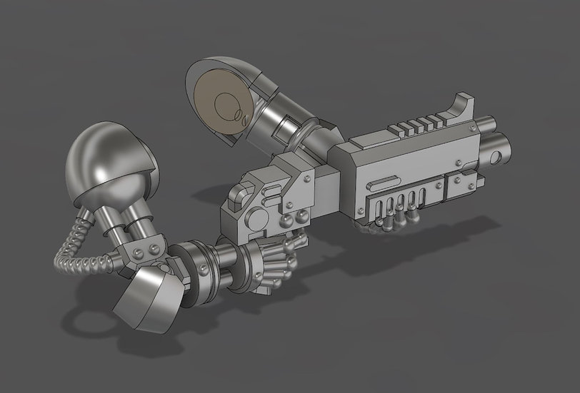 [STL] Bionic Bolter Arm Set  - 28mm 40k Primaris compatible