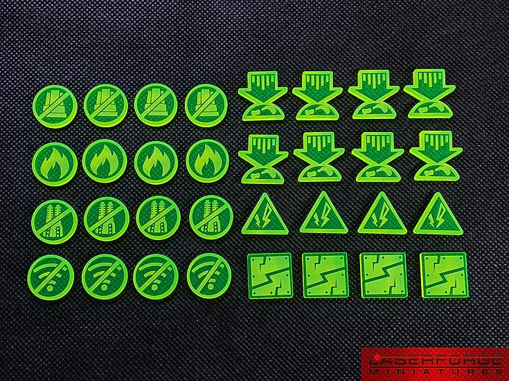 Critical Damage Pack (32) - Designed for Dropfleet Commander