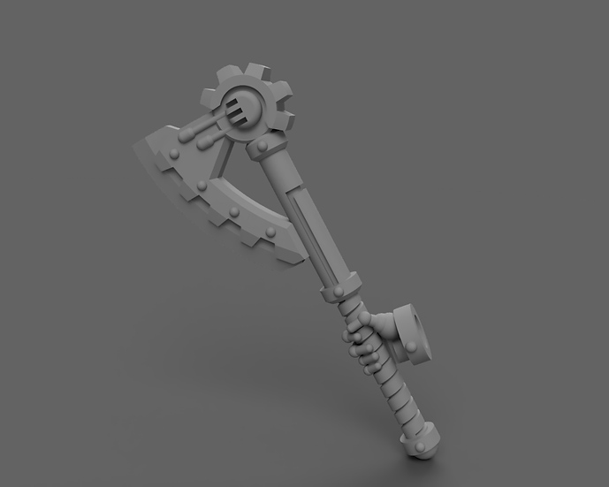 [STL] Cognus Power Axe - 28mm 40k Primaris compatible