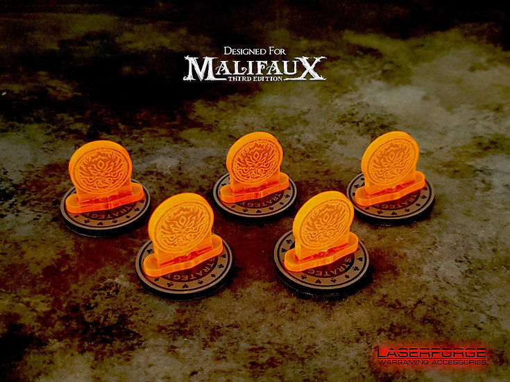 Strategy Markers - 30mm Magnetic (5) - Malifaux M3E Compatible