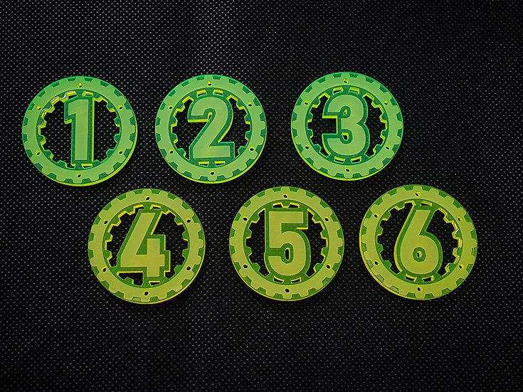 Objective Markers 40mm (6) - Warhammer 40k Kill Team compatible