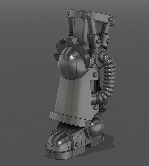 [STL] Posable Bionic Armoured Leg  - 28mm 40k Primaris compatible