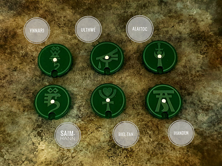XENOS Wound Dials / Counters (10) - compatible with Warhammer 40k / Kill Team