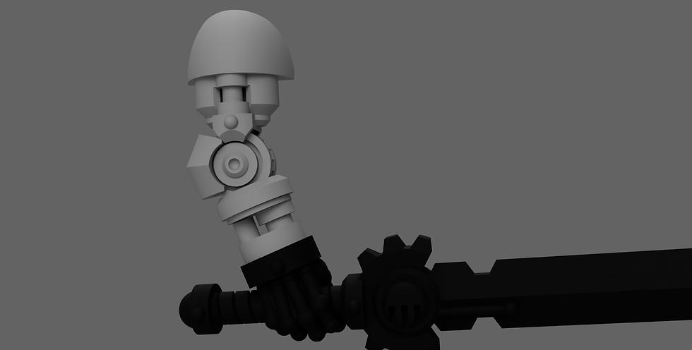 [STL] Posable Bionic Arm - 28mm 40k Primaris compatible