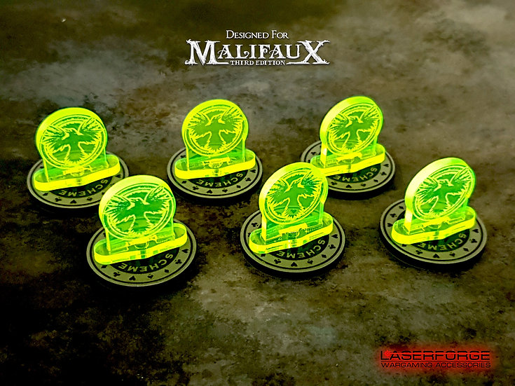 Faction Standees - Magnetic (10) - Malifaux M3E Compatible