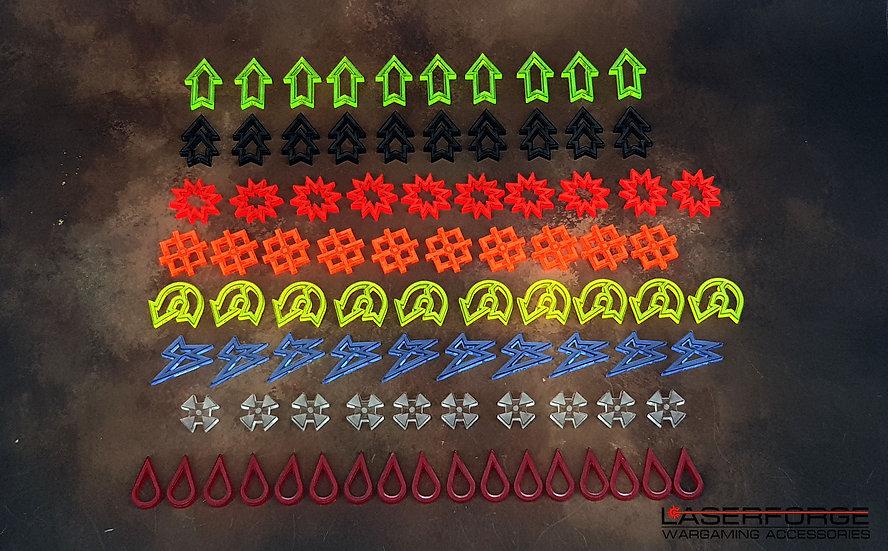 Acrylic Token Set (88) - Designed for 40k Kill Team