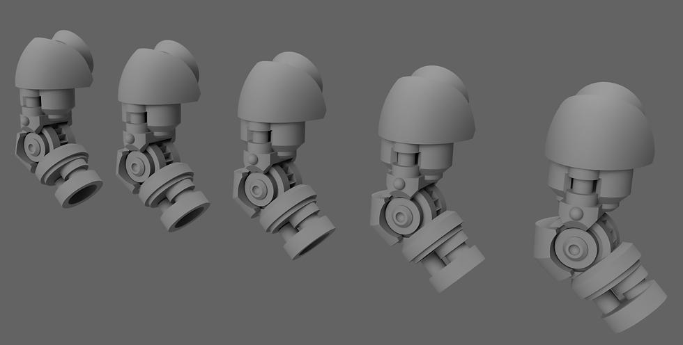 Sci-Fi Bionic Arms - POSABLE (5 pack) - 28/30mm - 40k Primaris Compatible