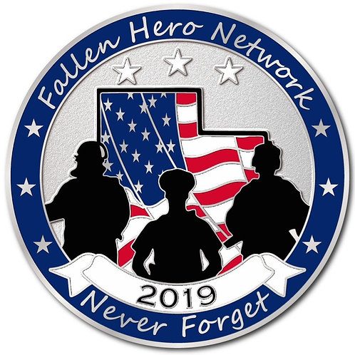 2019 Fallen Hero Network Challenge Coin