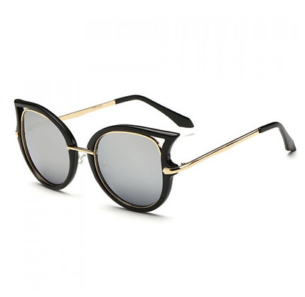 Black Cateye Shades with Gold accent