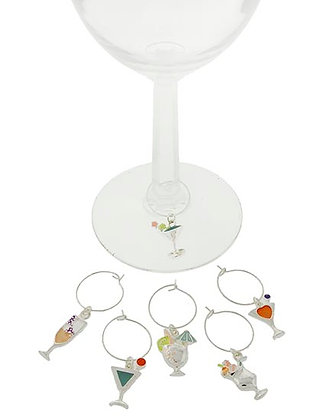Cocktail Theme Wine Charms