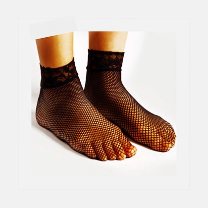 Small hole Fishnet Ankle Socks