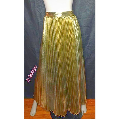 Gold Metallic Accordion Skirt