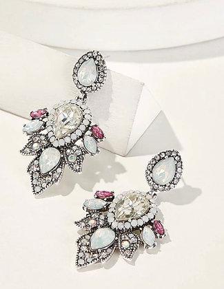 Teardrop Gem Rhinestone Earrings