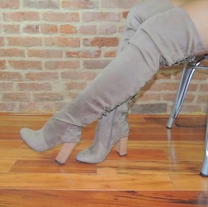 Tie Back Thigh Boots