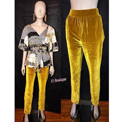 Gold Velvet Pants