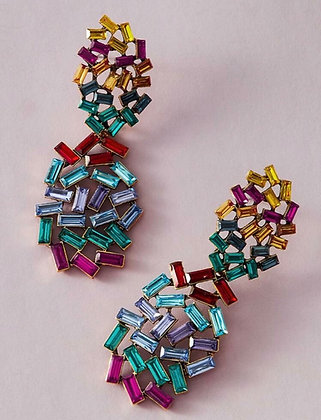 Colorful Stone Dangle Earrings