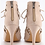 Thumbnail: Caged Lace Up Peep Toe Booties